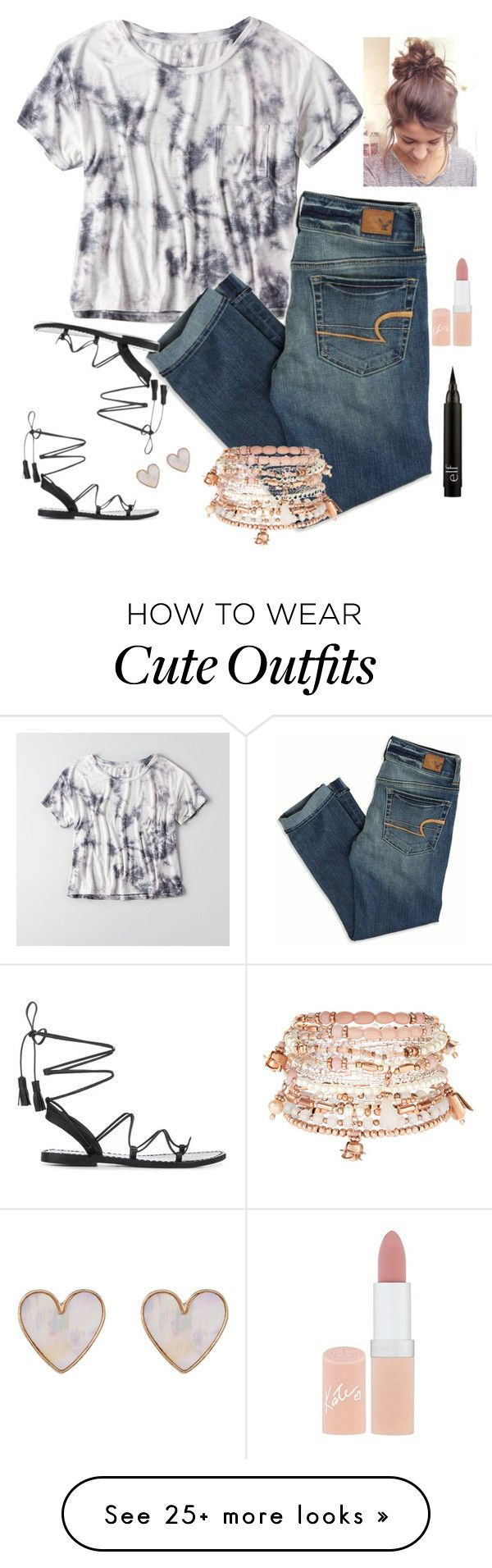 """ootd // #11"" by jenvince23 on Polyvore featuring American Eagle Outfitters, Anine Bing, New Look, Accessorize, Rimmel and jensootd"