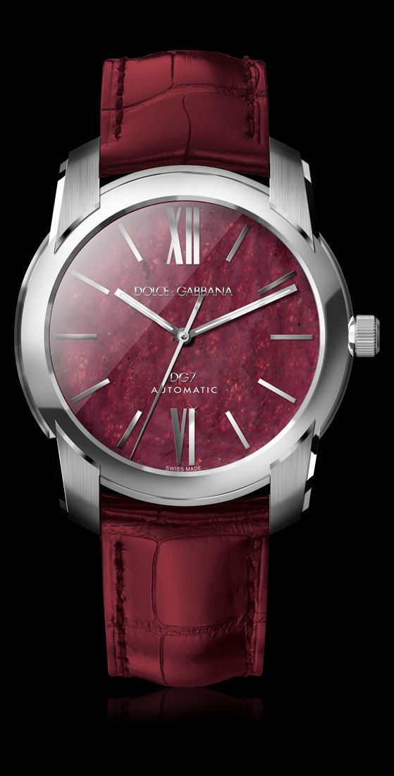 Men's Steel Watch with Ruby - D&G Watches | Dolce & Gabbana Watches for Men and Women