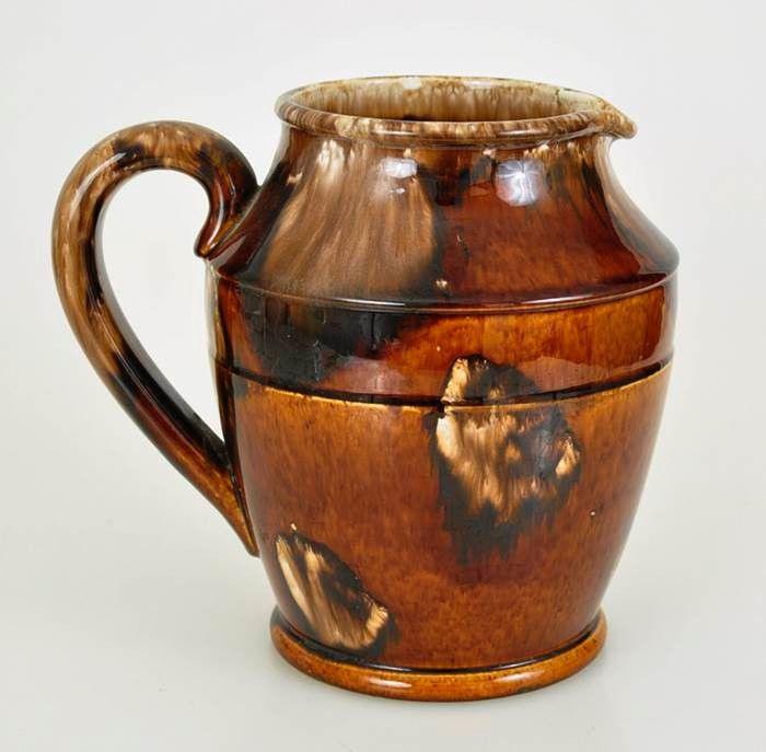 REGAL-MASHMAN-Pottery-1930s-Brown-Glazed-Electric-JUG