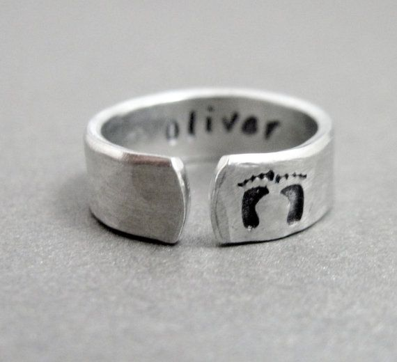 Custom New Mom Ring Personalized with Name by emerydrive on Etsy, $14.50
