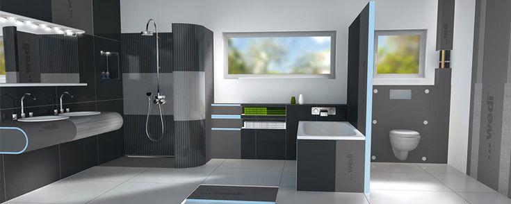 Salle de bain avec panneaux Wedi