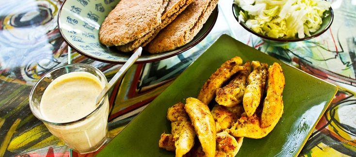 Kylling i pita