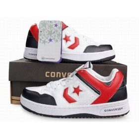Converse Weapon Low White Red Black