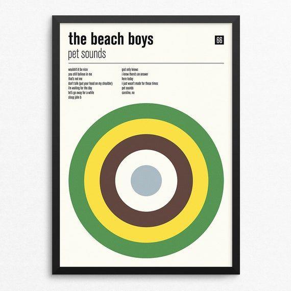The Beach Boys Pet Sounds A3 Retro Print Wall Art Colour