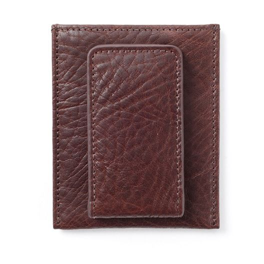 Brown Money Clip Card Case | Italian Espresso Leather