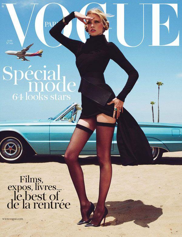 Vogue Paris August 2011  Photographer: Inez & Vinoodh  Stylist: Melanie Ward  Model: Lara Stone