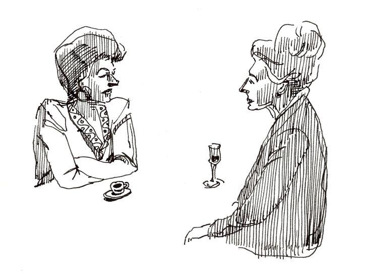 Jen and Zia Pina. #Line #art by Vince Mancuso