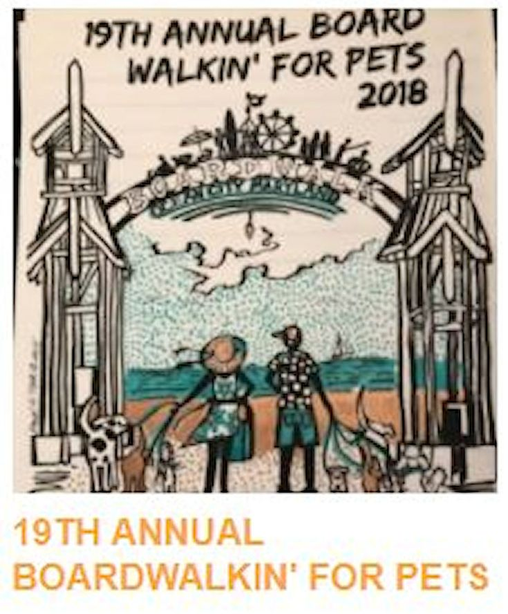 Get your pet ready for the 19th Annual Boardwalkin for Pets on April 19th... #oceancitycool