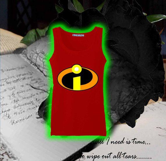 Incredibles logo superhero Tank top Ladies Tank top by sevenangel, $19.99