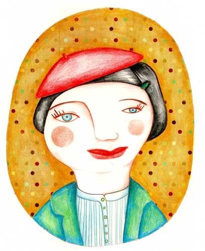 Marion - Olivia Paroldi Illustration  http://lolive.ultra-book.com/book