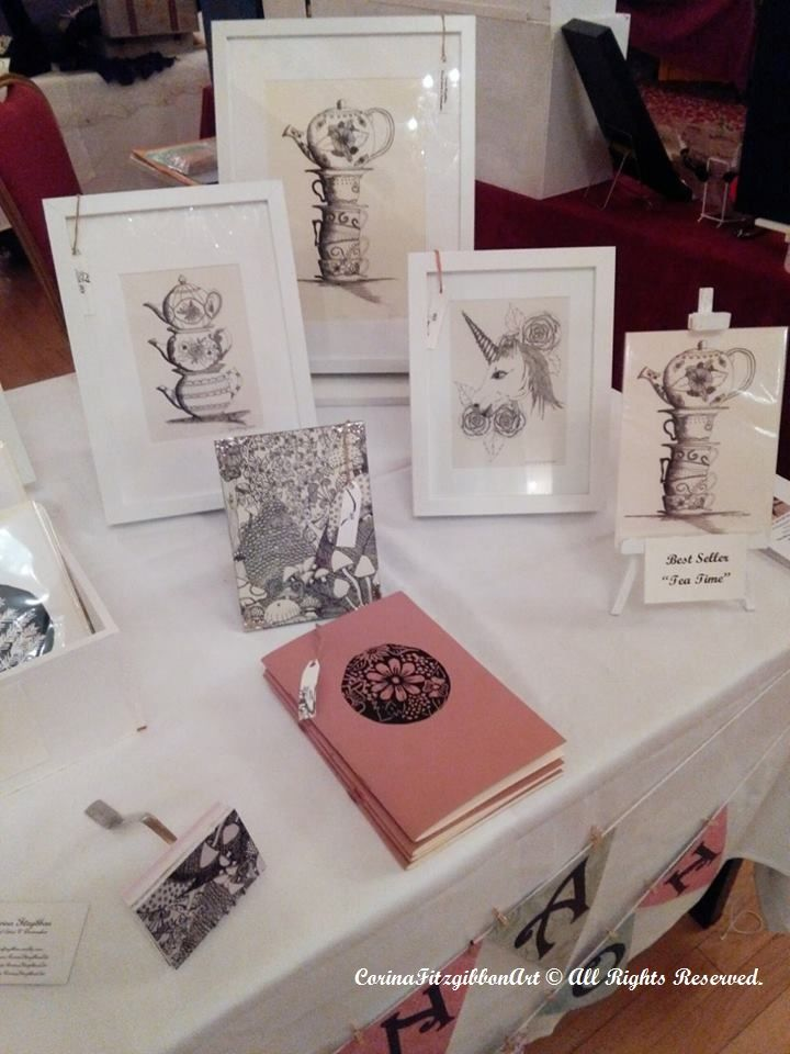 My Display at the Vintage Fayre. Find more on... Instagram and Facebook to see more of my work! @CorinaFitzgibbonArt https://www.facebook.com/corinafitzgibbonart  CorinaFitzgibbonArt© All Rights Reserved.
