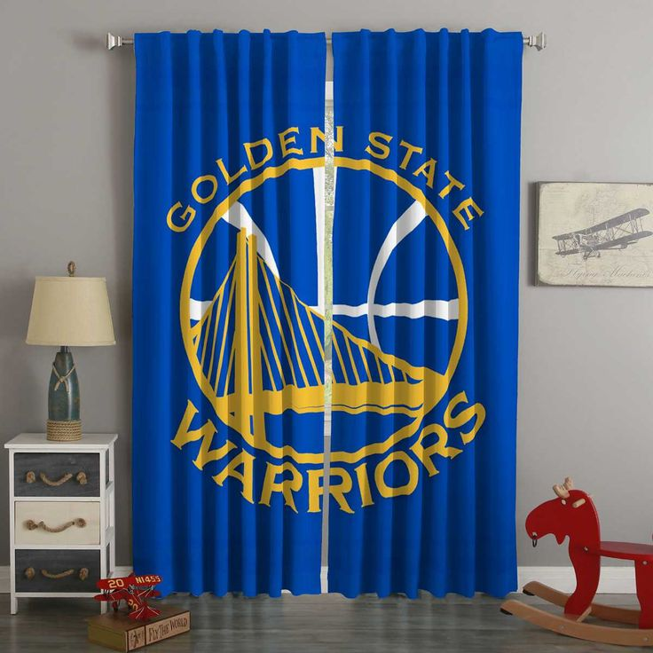 3d Printed Golden State Warriors Style Custom Living Room Curtains Curtains Living Room