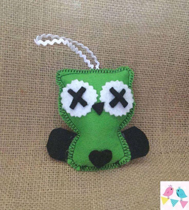 Handmade by KajaCreations. Little Halloween Zombie decoration  For more information, please visit https://www.facebook.com/HandmadeMarkets