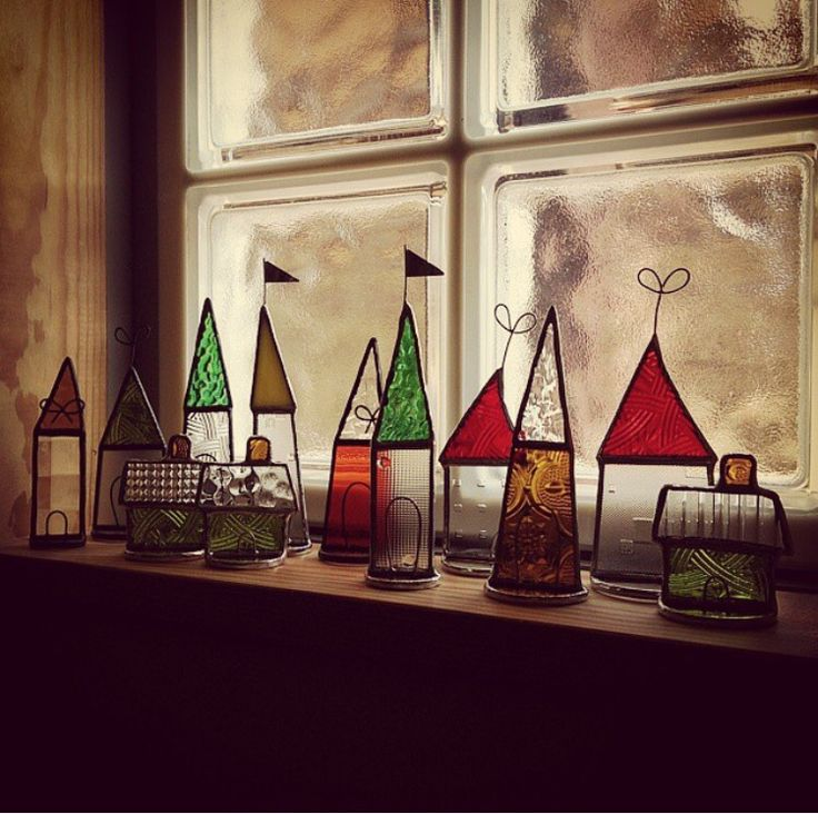 Stained glass houses