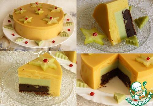 манговый торт-пудинг на агаре с сюрпризом