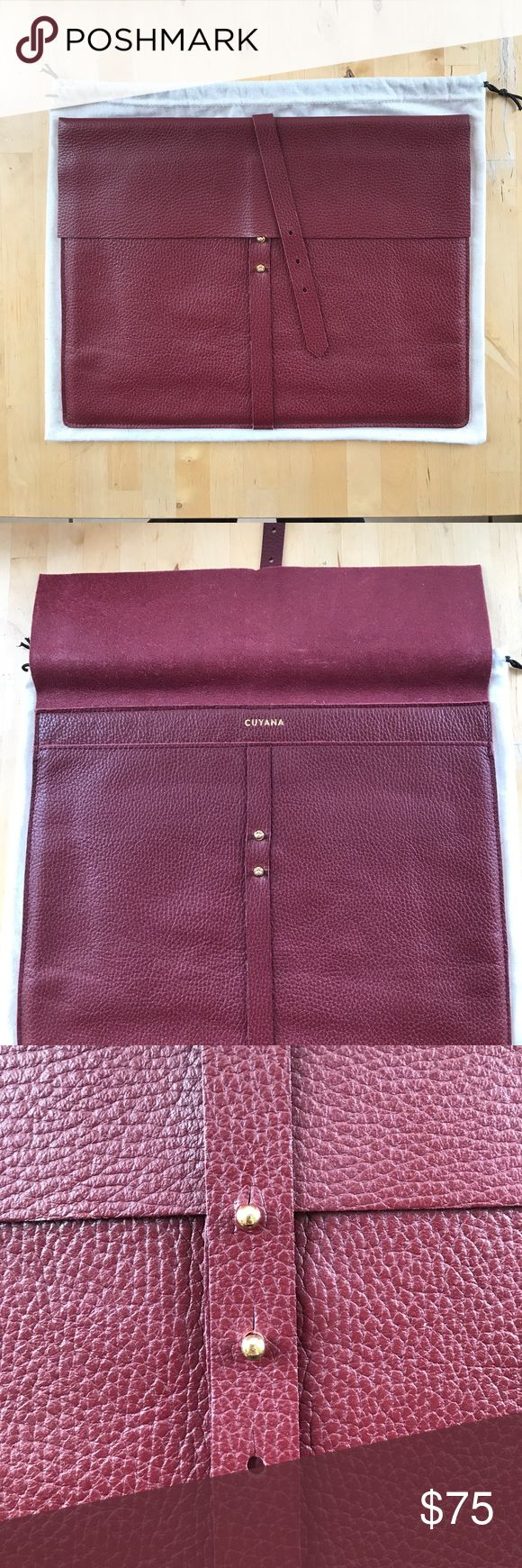 Cuyana Leather Laptop Pouch Beautiful Cuyana lapto…