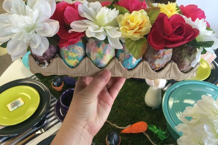 Easter tablescape DIY from Fiesta Dinnerware