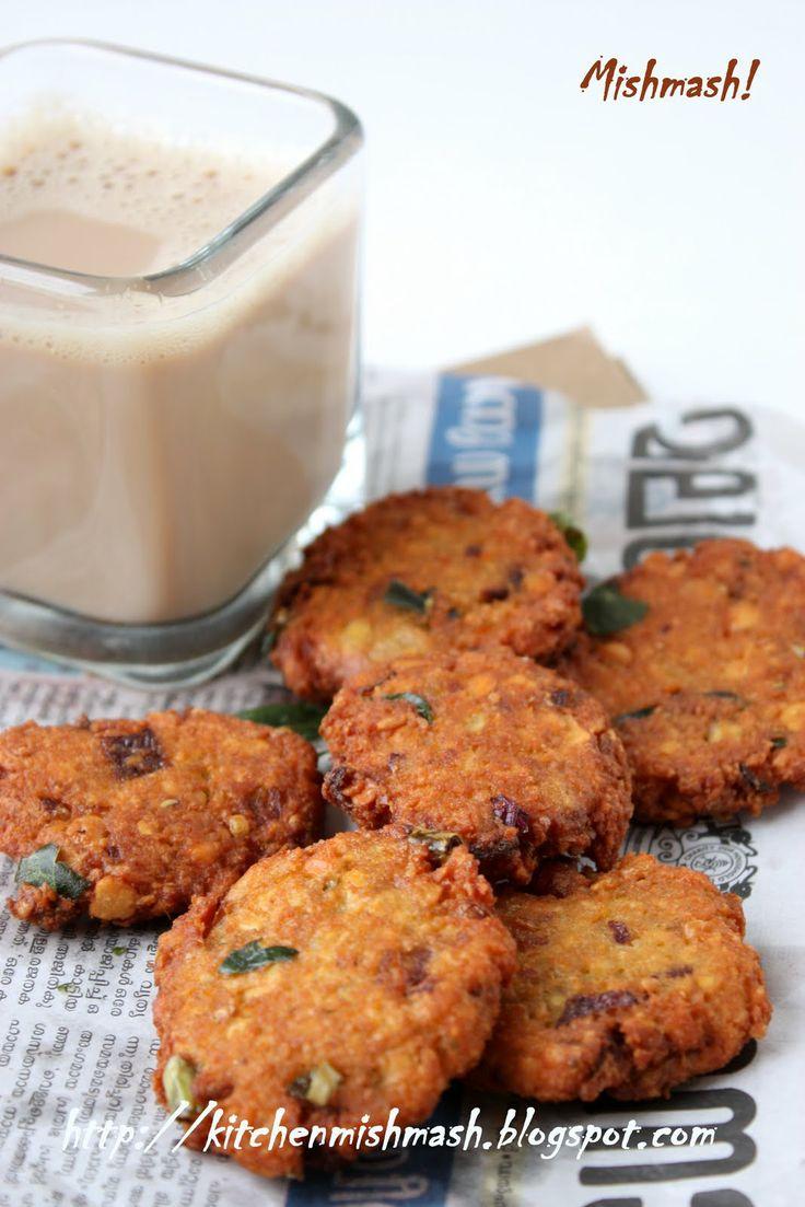 Parippu Vada - yellow lentil (daal) bhajias
