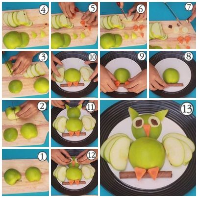 Cara Membuat Garnish Dari Buah, Sayur Dan Cokelat (Bentuk Burung Hantu)