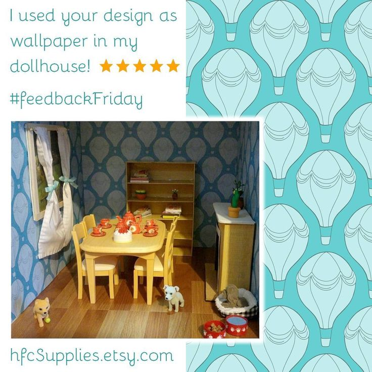I love how my customer used my hot air balloon design printable paper in her dollhouse!  Doesn't her dolls house look great! 😃💙 #feedbackfriday #happycustomer #etsyseller #etsy #etsyselleruk #dollhouse #printable #printablepaper #scrapbookingpaper #hotairballoon #dollshouse #handmade #crafty #smallbusiness #designer
