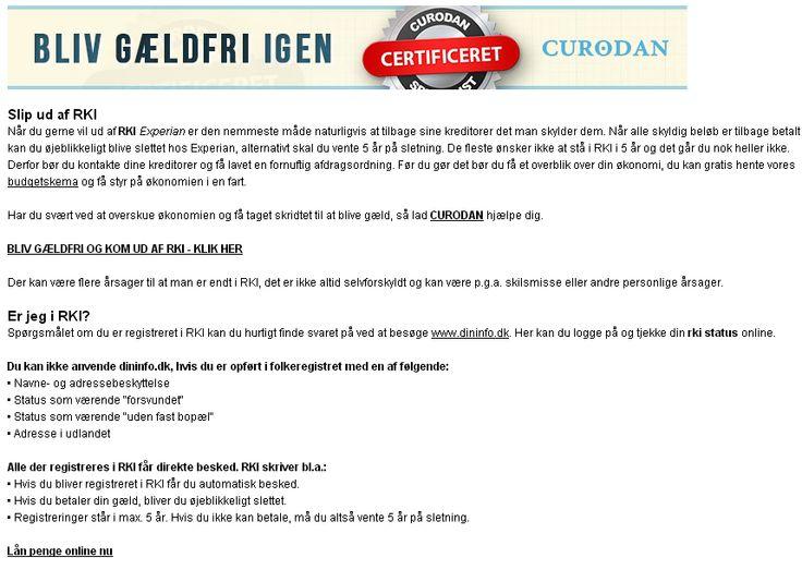 Apply now and get an answer in a few minutes! Requirements: No RKI and min.. Rki Lån #Rki #lån  #Rkilån #dk