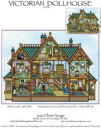 Victorian Dollhouse - Cross Stitch Pattern  by Joan Elliott Designs    Price: $13.99