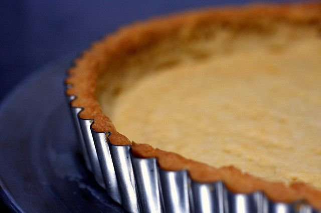 the great unshrinkable tart shell by smitten, made this today and it actually DOES NOT SHRINK!