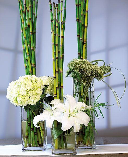 Bamboo table decorations my web value these square glass vases make the perfect wedding centerpieces available in 3 sizes mix junglespirit Image collections