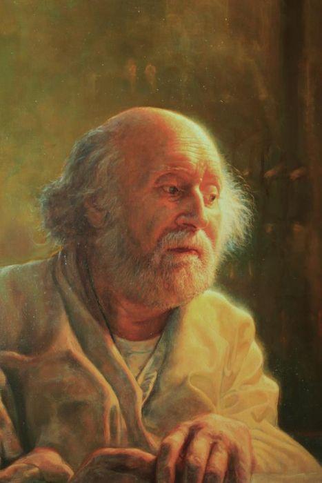Portrait of Yannis Tsarouchis 2012,oil on canvas by Athanasios Leontaridis