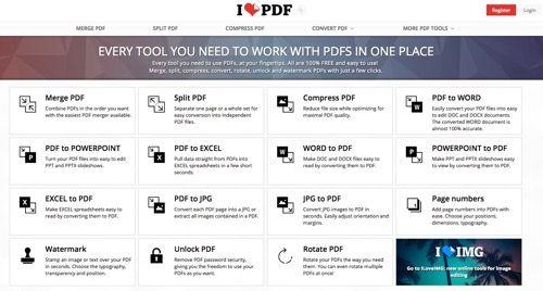 iLovePDF cuenta con todo lo necesario para trabajar con archivos en formato PDF   Para algunas personas trabajar con un archivo en formato PDF se convierte en una tarea tediosa ya que no saben como agregar texto adicional al archivo insertar una imagen resaltar algún texto incluso agregar o intercalar páginas.  Ya esas complicaciones son tema del pasado ya que en esta ocasión les recomendaremos una excelente aplicación web que se llama iLovePDF (nombre curioso) siendo una excelente…