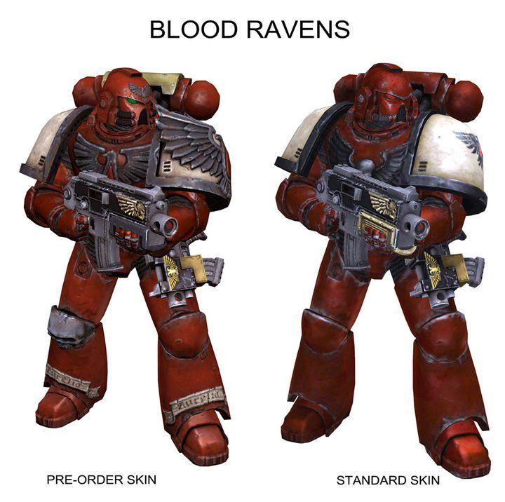 SpaceMarine Blood Ravens MP skins   50K: Blood Ravens ...