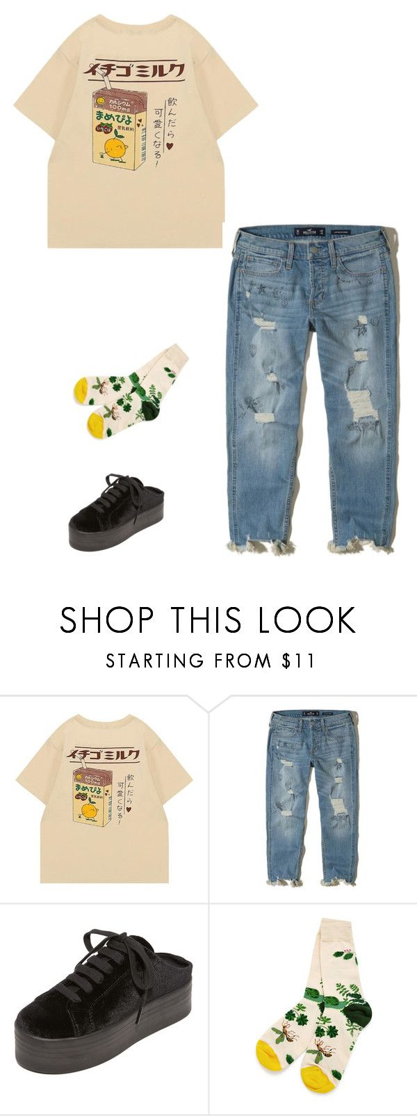"""Untitled #56"" by burnttoasts on Polyvore featuring Hollister Co., Jeffrey Campbell and WithChic"