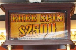 Casinos on Fremont street with free slots.  Good to remember!