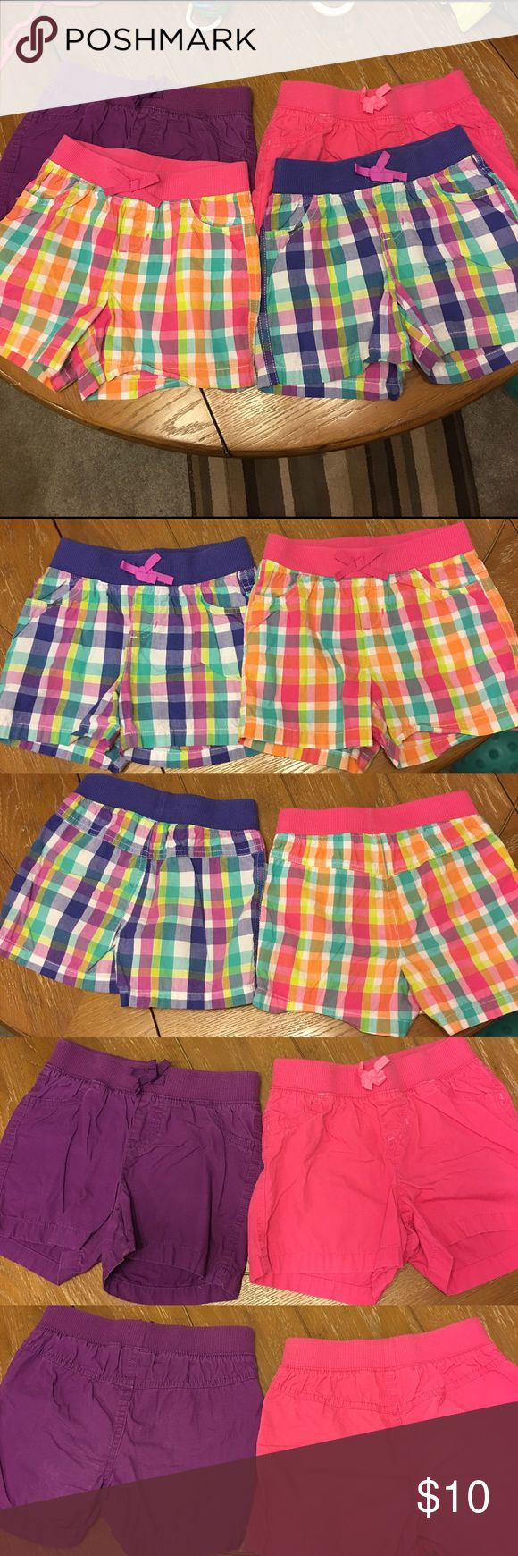 Jumping beans pull on shorts bundle + tank top 4 pair of size 6x shorts with elastic waistband and size 7 tank top. Please see original listings for more detail. jumping beans Bottoms Shorts