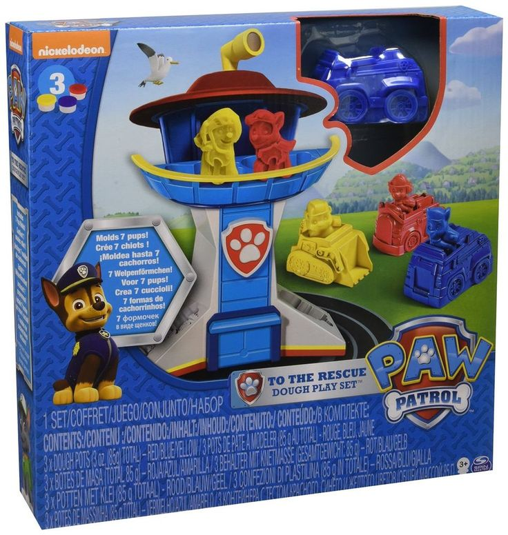 Paw Patrol to The Rescue Play Doh Multi Colour Set Mould Favourite Pups No Toxic #PawPatrol