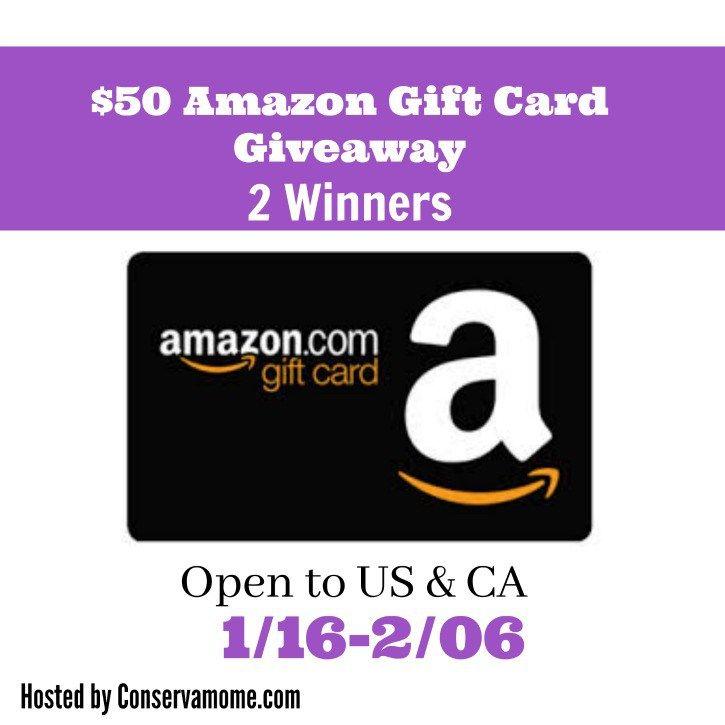 50 amazon gift card giveaway 2 winners amazon gift