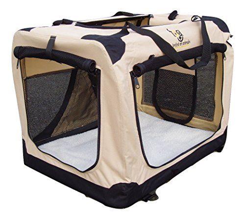Aus der Kategorie Hundekisten  gibt es, zum Preis von   L- 70 cm, H: 52 cm, B: 52 cm. All unsere Hundeboxen sind leicht und zusammenfaltbar und können in wenigen Momenten aufgebaut werden. Die Hundekäfige sind leicht und luftig mit starkem Netz-Fenster an den Seiten, damit das Tier sich nie eingesperrt fühlt oder überhitzt. Ideal für einen sicheren Transport. Sie verfügen über drei Öffnungen mit Reißverschluss, vorne, seitlich und oben. Diese TOA Hundebox verfügt außerdem über 4 D-Ringe für…