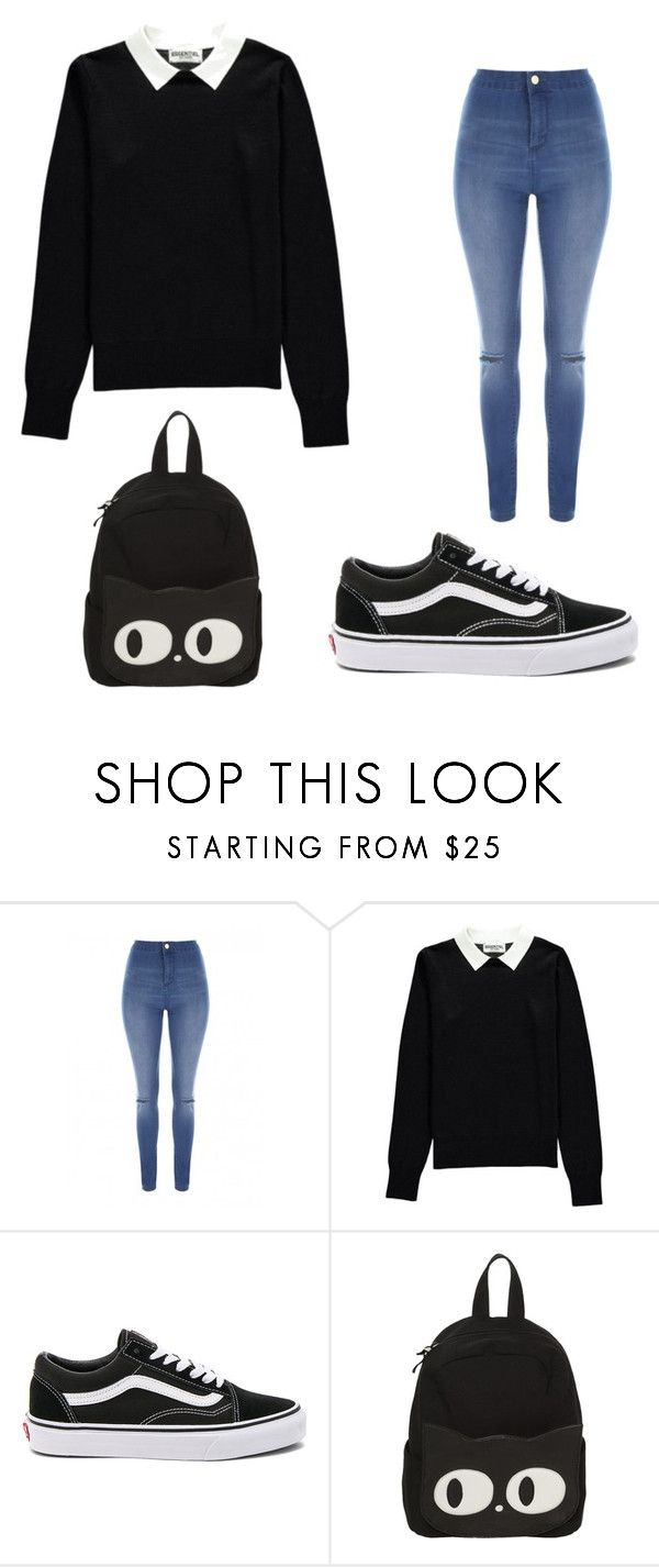Poly. by daniuskaloreto on Polyvore featuring moda, Essentiel, Jane Norman and Vans