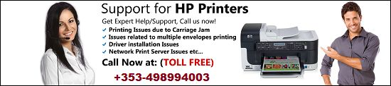 Our HP printer technical support experts are here to help you with printer related problems like paper jam troubles, clogged ink cartridge, issues with the printer driver installation, server troubles and much more to count. You can reach us by dialing our Toll Free number: +353-498994003.
