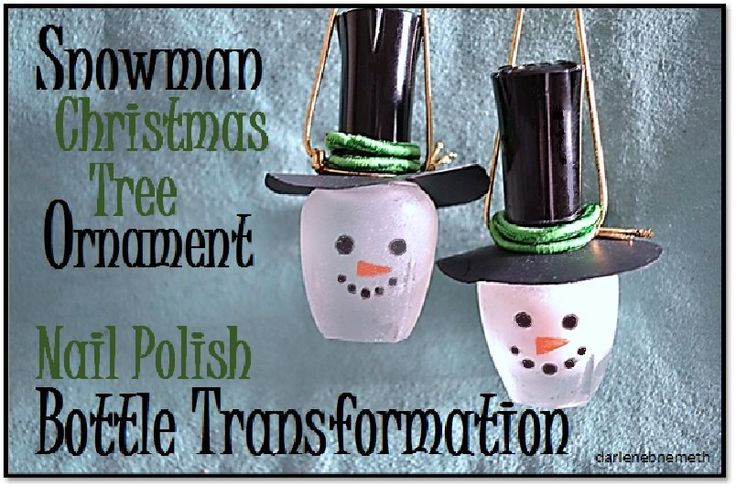 Hello. And Welcome. I am so glad you are here. I hope you like today's project.   I have a DIY Christmas Tree Ornament. These are the items I used: Empty Nail P…