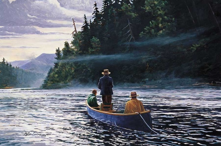 The Blue Canoe Peter Corbin Fly Fishing Art | MidCurrent