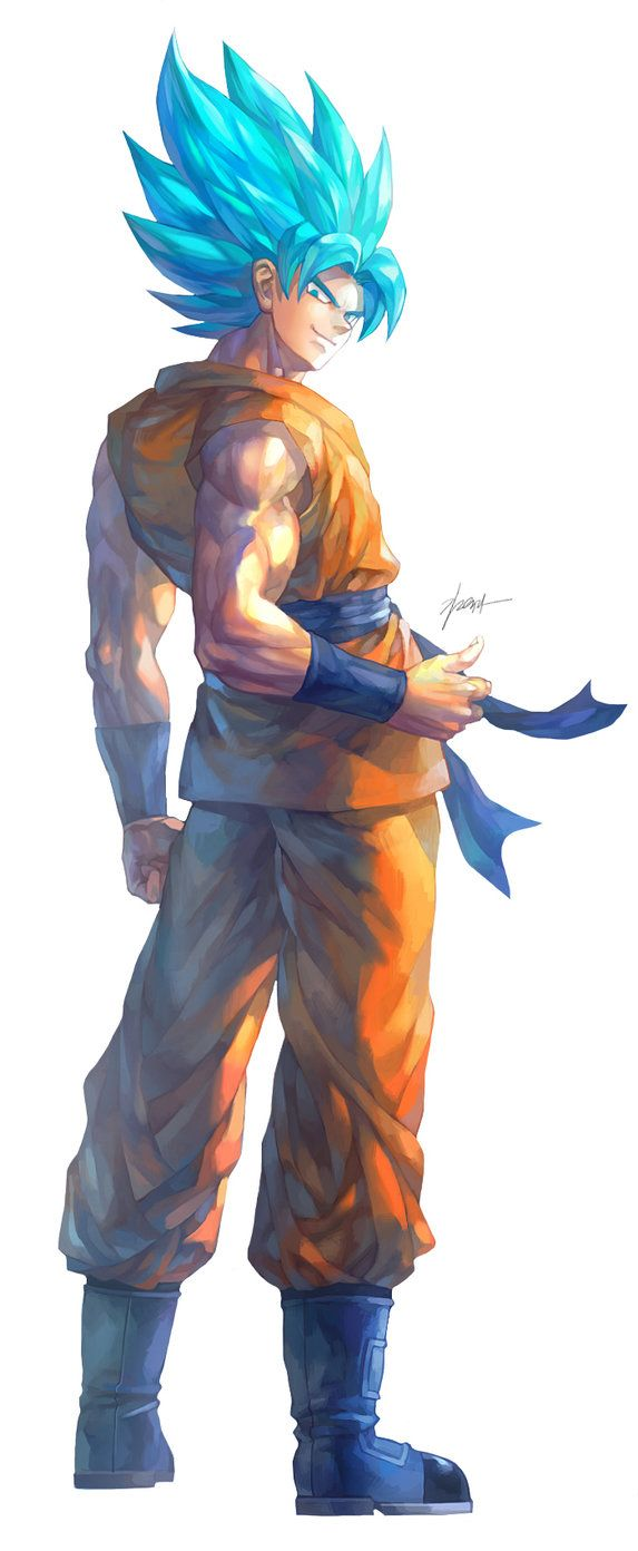 Son Goku (SSGSS/SSB) by GoddessMechanic2 on DeviantArt- Love the artwork