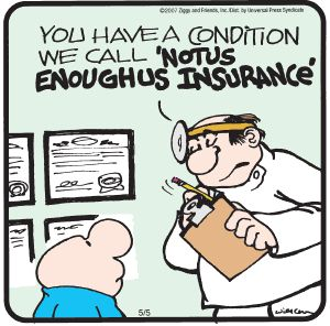Image result for cartoon health insurance coverage adequacy