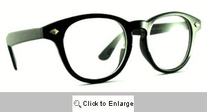 Scholar Round Wayfarers II Glasses - 386A Black