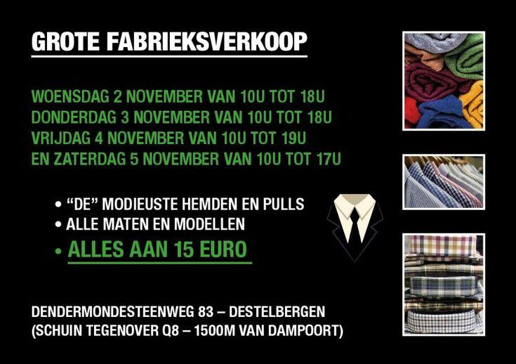 Grote Fabrieksverkoop - 2 tem 5 November - Destelbergen -- DESTELBERGEN -- 02/11-05/11