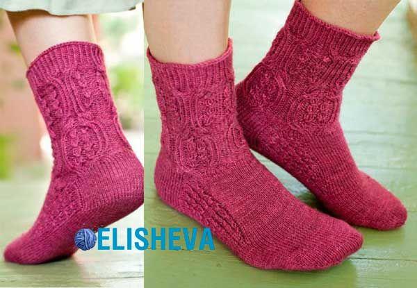 Очень красивые женские носки хозяйки аббатства Донвелл. Схема и описание вязания | Блог elisheva.ru