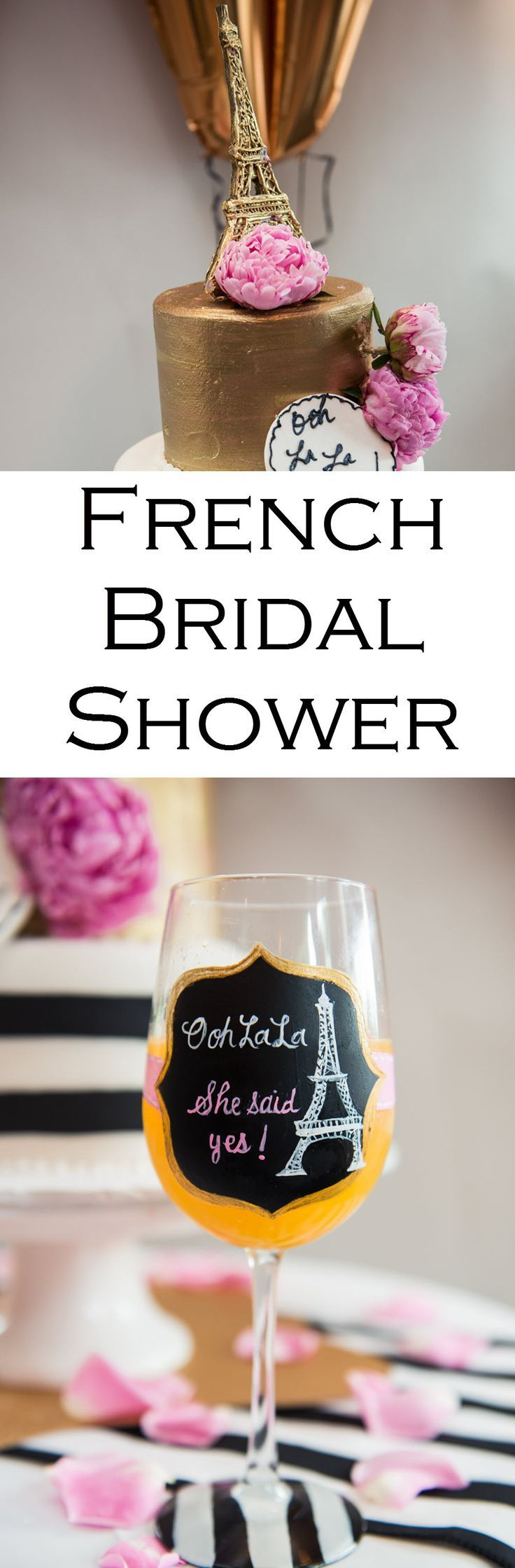 bridal shower poem for not wrapping gifts%0A A Paris  France Themed Bridal Shower  Great ideas for the cake  drinks