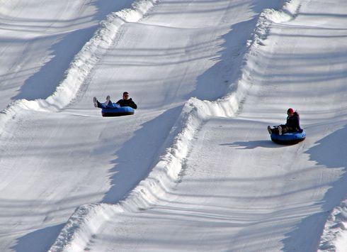 Paoli Peaks, Indiana. Snow Tubing.