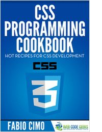 """CSS Programming Cookbook"" Kick-start your CSS projects with these hot recipes! Cascading Style Sheets (CSS) is a style sheet language used for describing the look and formatting of a document written in a markup language. Although most often used to change the style of web pages and user interfaces written in HTML and XHTML, the language can be applied to any kind of XML document, including plain XML, SVG and XUL."