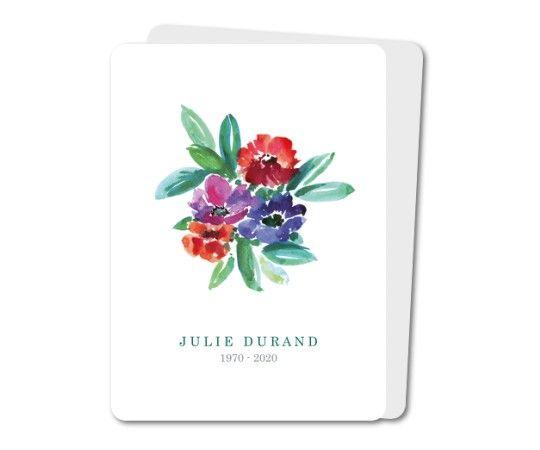 faire part deces fleurs aquarelle rounded